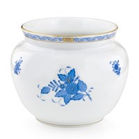 Herend Chinese Bouquet Blue Flower Bowl / Cachepot