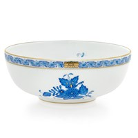 Herend Chinese Bouquet Blue Low Bowl, Small