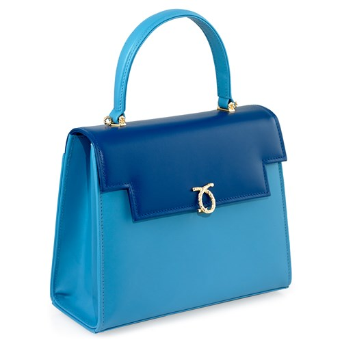Launer Traviata Handbag, Royal & Baby Blue