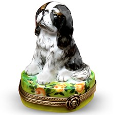 King Charles Spaniel Limoges Boxes