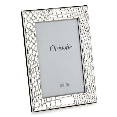 "Christofle Croco d'Argent Sterling Silver Frame, 4"" x 6"""