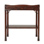 Carved Mahogany End Table