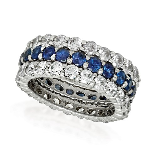 18K White Gold Sapphire Eternity Band