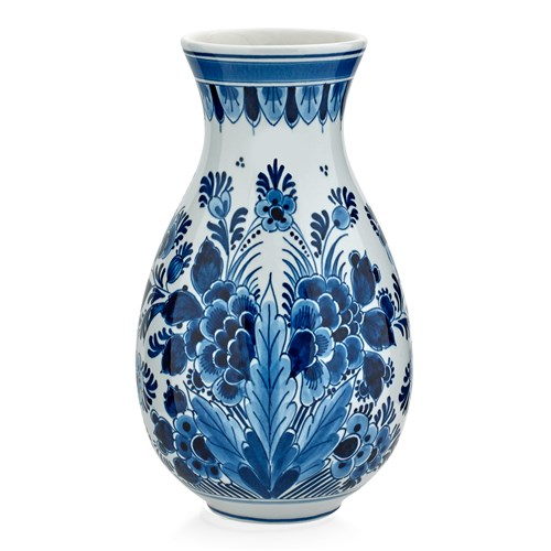 Royal Delft Blue Floral Vase