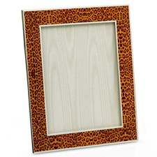 Leopard Enamel and Sterling Silver Picture Frames