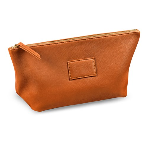 Leather Vanity Case, Tan