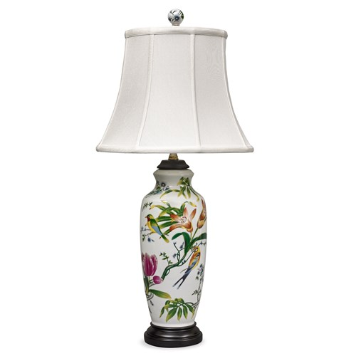 Birds and Tulips Lamp