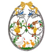 Pewter Easter Egg Wall Hanging