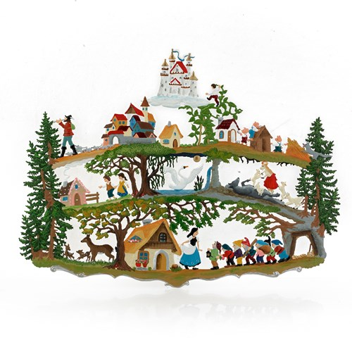 Pewter Fairy Tale Forest Wall Hanging