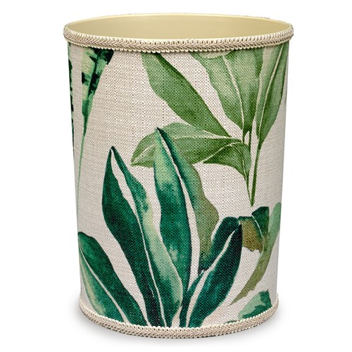 Tropical Green Palm Wastebasket