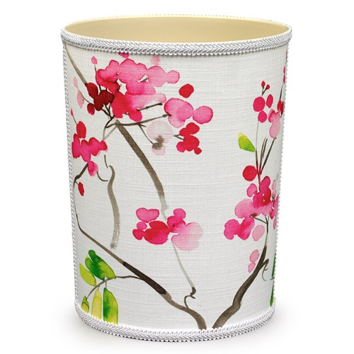 Cherry Blossom Wastebasket & Tissue Box Cover