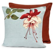 Fuchsia on Blue Tapestry Pillows