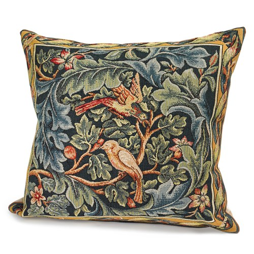 Birds and Acanthus Tapestry Pillow