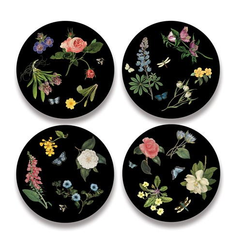 English Floral Placemats, Set of 4