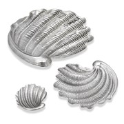 Buccellati Tridacna Sterling Silver Shell Dishes