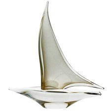 Clear & Gold Crystal Sailboat