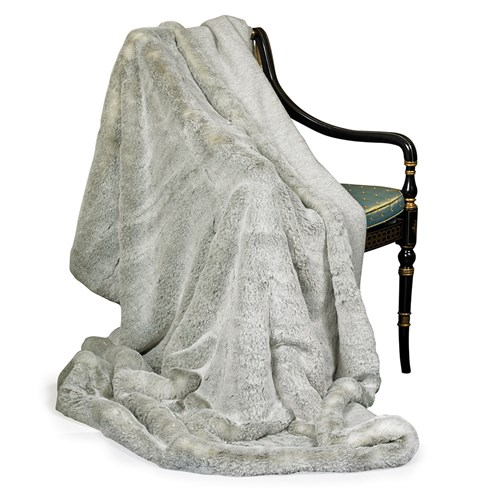Faux Fur Grey Australian Geelong Wool Throw