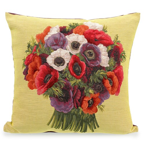 Anemones Bunch Tapestry Pillow
