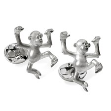 Sterling Silver Dancing Monkey Tom Cufflinks