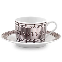Hermes H Deco Rouge Tea Cup & Saucer