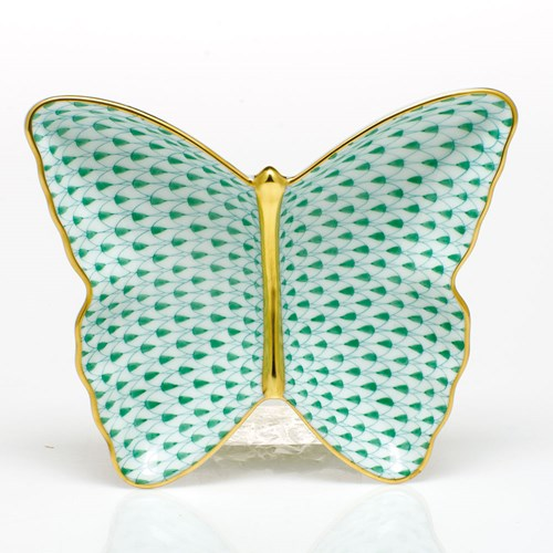 Herend Butterfly Dish, Green
