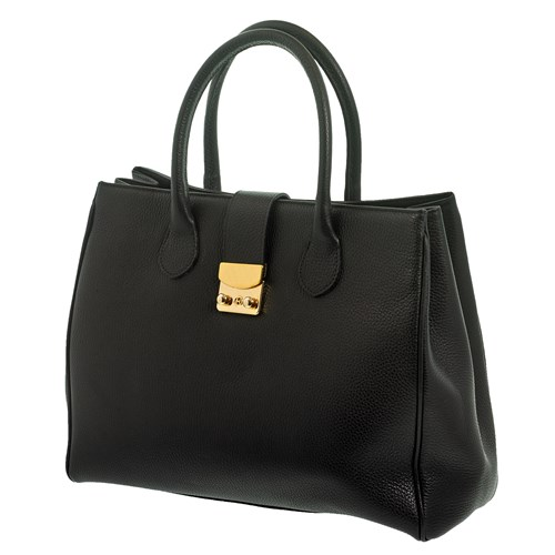Leather Handbag, Black