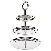 Christofle Vertigo Silverplated Tiered Pastry Stands