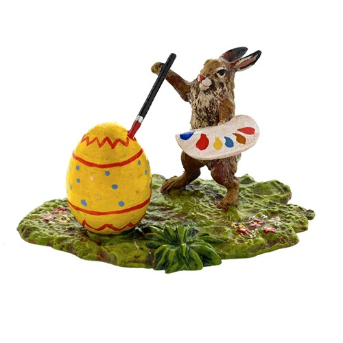Austrian Bronze Rabbit Painting Easter Egg
