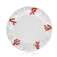 Coral and Seashells Ceramic China, Dinner Plate