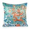East and West Dragon Pillows, Green