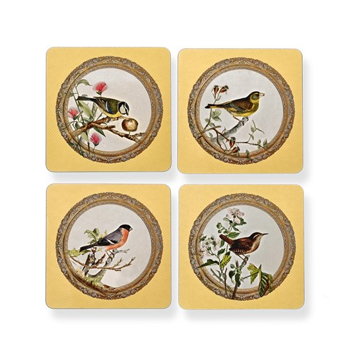 Yellow Songbird Table Mats, Set of 4