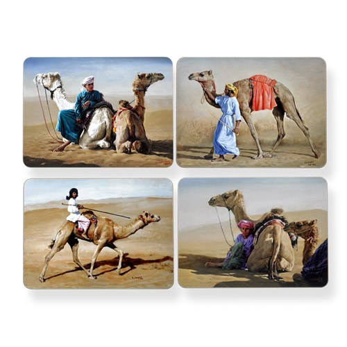 Omani Camel Placemats, Set of 4