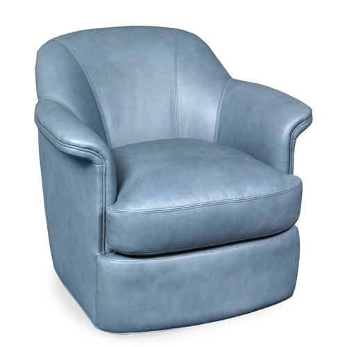 Athens Swivel Chair, Denim Blue
