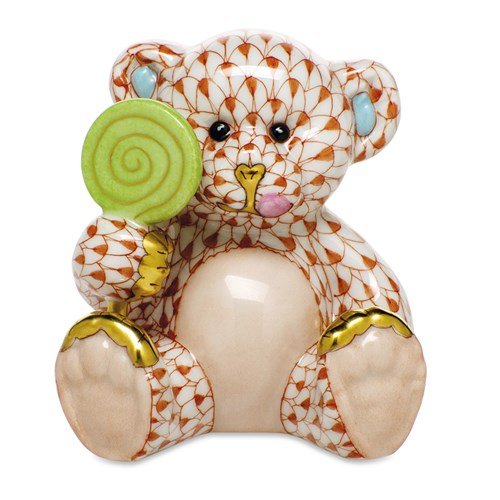 Herend Sweet Tooth Teddy, Rust