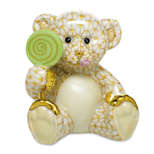 Herend Sweet Tooth Teddy, Butterscotch