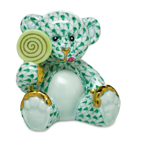 Herend Sweet Tooth Teddy, Green