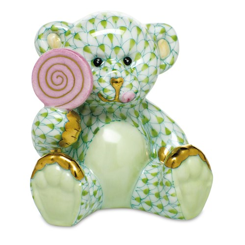 Herend Sweet Tooth Teddy, Key Lime