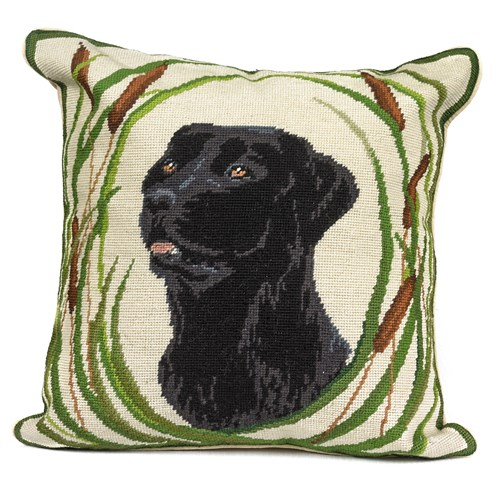 Dog Needlepoint Pillow, Gus
