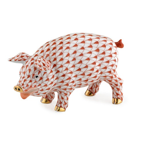 Herend Exclusive Pig, Rust