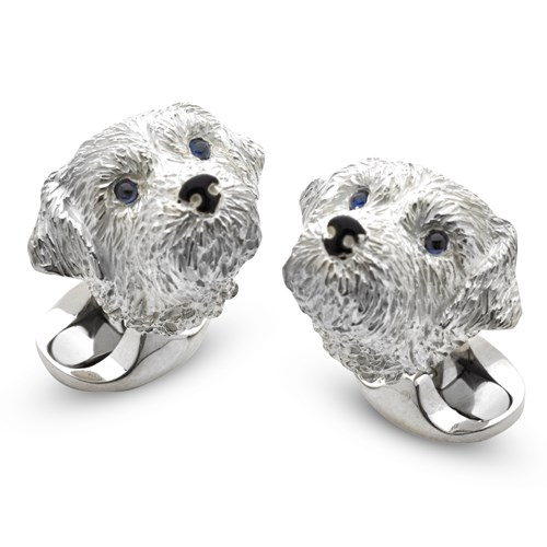 Sterling Silver Border Terrier Cufflinks