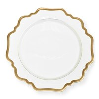 Anna Weatherley Antique White with Gold Dessert Plate