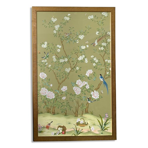 Edgedale Watercolor Painting Silk Panel, A