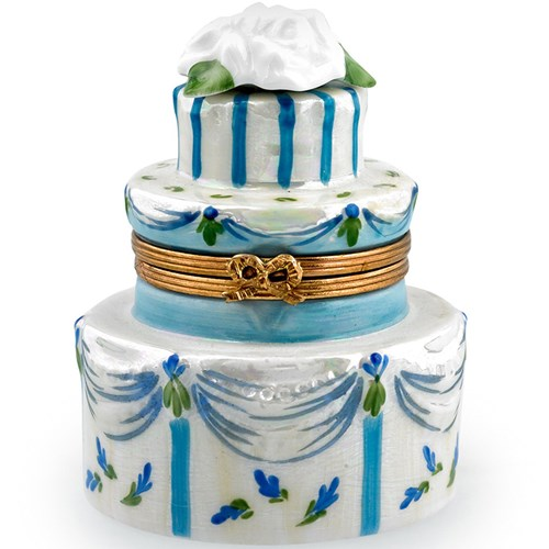Blue Wedding Cake Limoges Box