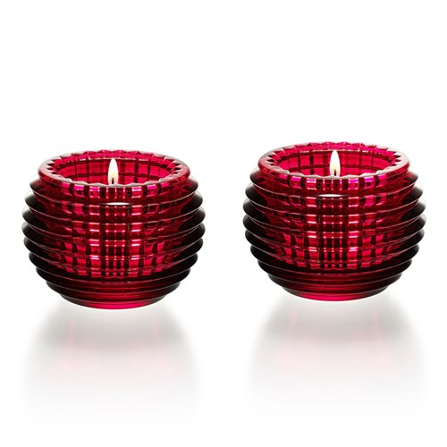 Baccarat Eye Votive, Red Set of 2