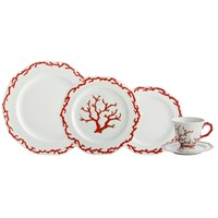 Mottahedeh Barriera Corallina Red 5 Piece Place Setting