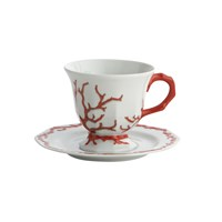 Mottahedeh Barriera Corallina Red Tea Cup & Saucer