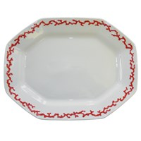 Mottahedeh Barriera Corallina Red Oval Platter, Large