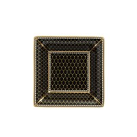 Halcyon Days Antler Trellis Black Square Tray