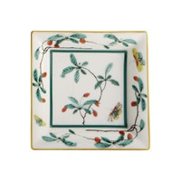 Mottahedeh Famille Verte Small Square Tray