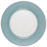 Mottahedeh Turquoise Lace Charger / Presentation Plate